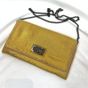 BCBG Gold Evening Clutch with Chain
